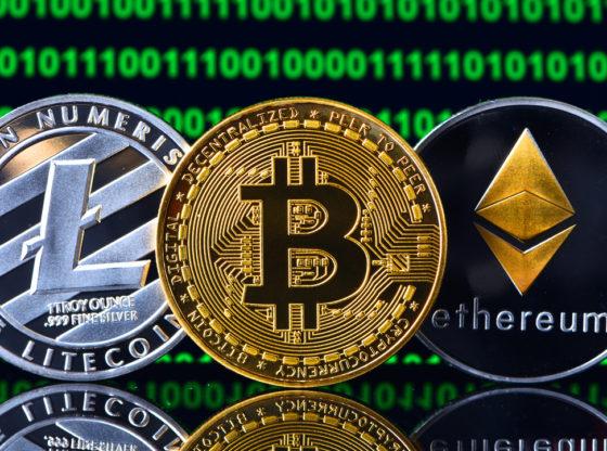 Bitkoin, lajtokoin, etereum, kriptovalute
