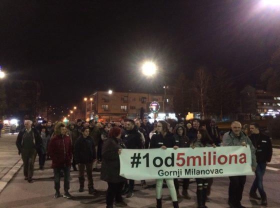 Otkazi, pritisci i zastrašivanja – svedočanstva građana Gornjeg Milanovca povodom protesta 1 od 5 miliona