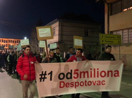 Rečeno mi je da biram između protesta i posla - organizator protesta iz Despotovca za Talas