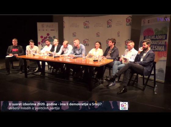 Debata mladih iz političkih partija o izborima i bojkotu (VIDEO)