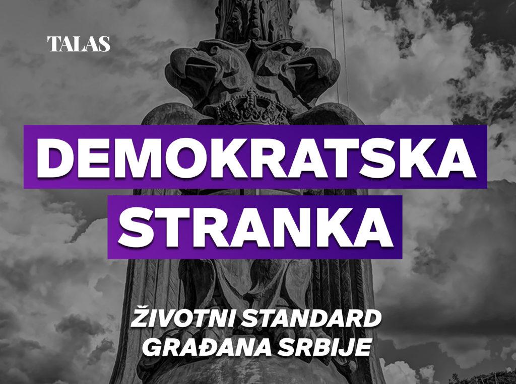Demokratska stranka - Životni standard građana Srbije