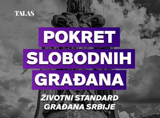 Pokret slobodnih građana - Životni standard građana Srbije