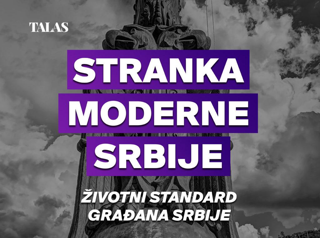 Stranka moderne Srbije - Životni standard građana Srbije