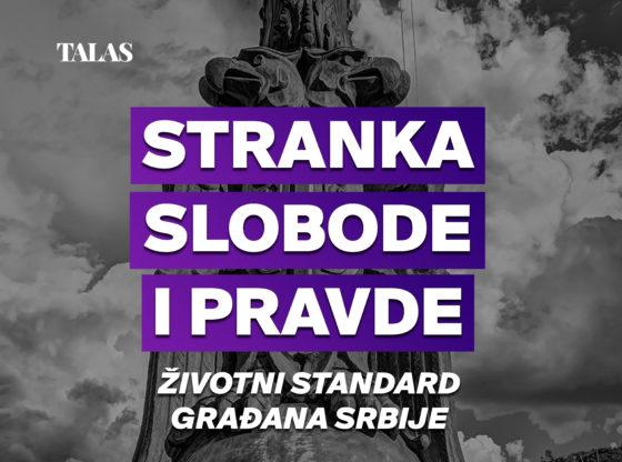 Stranka slobode i pravde - Životni standard građana Srbije